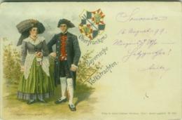 AK GERMANY - OBERFRANKEN BAYERISCHE VOLKSTRACHTEN - EDIT GUSTAV ERDMANN - STAMP 1/2 PFENNING -  MAILED 1899 (BG4707) - Germany