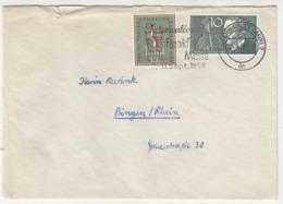 Frankfurter Messe Slogan Postmark On Letter Cover Posted 1958 B191020 - Cartas