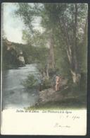 1.1 // CPA - Vallée De La Lesse - Les Pêcheurs à La Ligne - Cachet Houyet - Couleur 1904 // - Houyet