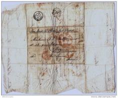 LETTRE DE BOSTON < NEW YORK <  BAYONNE <  CACHET LIGNE DU HAVRE 29 Avril 1849 - Poststempel (Briefe)