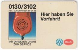 GERMANY O-Serie B-005 - 312 10.92 - Advertising, Traffic, Car, VW - Used - Deutschland