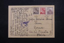 BOHÊME ET MORAVIE - Carte De Correspondance Pour Rome En 1941 Avec Contrôle Postal  - L 44039 - Lettres & Documents