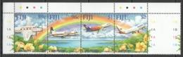 B070 FIJI 50TH ANNIVERSARY AIR PACIFIC AVIATION 1SET MNH - Avions