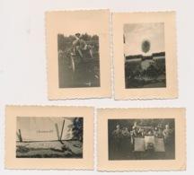 4 FOTO'S TE LEIPZIG  VAN DUITSERS 8.5 X 6 CM :: KOMP.INF.-REGT.11  2 AFBEELDINGEN - Guerre 1939-45