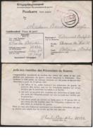 CP De Prisonnier Belge STALAG IIC 2/1/41 + Verso Avis Aux Familles - WW II
