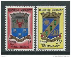 Madagascar N° 496 / 97  XX   Armoiries, Les 2 Valeurs  Sans Charnière, TB - Madagaskar (1960-...)