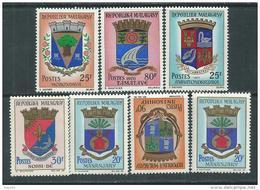 Madagascar N° 437A / 40  XX Armoiries,   Les 7 Valeurs Sans Charnière, TB - Madagaskar (1960-...)