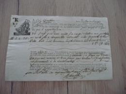 Connaissement 09/04/1846 Blouquier Capitaine Chablon Navire Jupiter Cette Sète à Rouen Vins Rouge - Verkehr & Transport