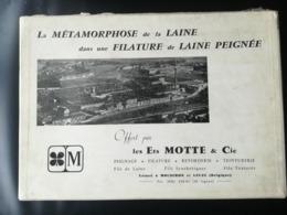LES ETS MOTTE ET CIE FILATURE DE LAINE PEIGNÉE USINES À MOUSCRON  HAINAUT BELGIQUE  BOÎTE DE LA MÉTAMORPHOSE DE LA LAINE - Mouscron - Moeskroen