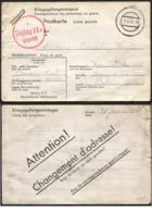 CP De Prisonnier Belge STALAG IIC 28/01/41 + Verso Avis De Changement D'adresse - WW II
