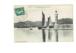Cpa - 83 - Saint-Tropez - Phare Avec Cuirassé - Bateau De Guerre - Mlle Barrois N°2 - - Saint-Tropez