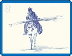 Reproduction D'une Aquarelleles Les Chevaux Reproduction Watercolor Horse Reproduktion Aquarells Pferde Burro Paarden - Wasserfarben