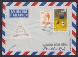 "Yugoslavia 1967 First Flight ""Lufthansa"" Zagreb-Munich-Frankfurt"", Airmail - Briefe U. Dokumente"