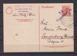 Sowjetische Zone - 1948 - Bezirksstempel-Aufdrucke - Michel Nr. 176  - Ganzsache - Falsch - BPP Geprüft - Zone Soviétique