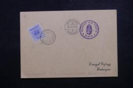 HONGRIE - Taxe De Esztergom Sur Carte En 1938 , Cachets Plaisants à Voir - L 44046 - Storia Postale