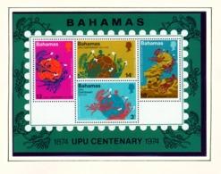 BAHAMAS  -  1974 UPU Miniature Sheet Unmounted/Never Hinged Mint - Bahamas (1973-...)