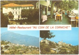"""Dépt 20 - SAN-MARTINO-DI-LOTA - Hôtel-Restaurant """"AU COIN DE LA CORNICHE"""" - (CPSM 10,4 X 14,8 Cm) - Corse - Other Municipalities"""