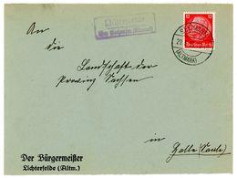 """Landpoststempel """"Lichterfelde über Seehausen Altmark"""" Fernbrief 1930 - Deutschland"""