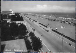 EMILIA ROMAGNA - RIMINI  - LUNGOMARE - VIAGGIATA 1956 - Rimini