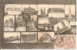 Y&T N°108+110X2 TOURS  Vers ST MAIXENT 1908 - 1877-1920: Période Semi Moderne
