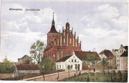 ALLENSTEIN Ostpreussen Jacobi Kirche Color Olsztyn Polen Belebt Ungelaufen - Ostpreussen