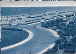 EMILIA ROMAGNA - RIMINI  - LUNGOMARE - COLORATA DI BLU - VIAGGIATA 1961 - Rimini