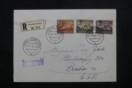 LUXEMBOURG - Enveloppe En Recommandé  Pour Prague En 1958, Affranchissement Plaisant - L 44050 - Luxembourg