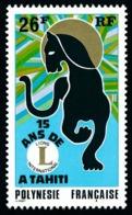POLYNESIE 1975 - Yv. 104 **   Cote= 11,70 EUR - Lions Club De Tahiti  ..Réf.POL24338 - Neufs