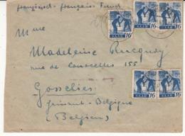 Enveloppe De  SAAR  Vers    Jette  Belgique    1947 - WW II