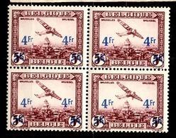 Belgique Poste Aérienne YT N° 7 En Bloc De 4 Neufs ** MNH. TB. A Saisir! - Airmail