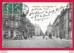 08-Charleville- Rue Du Petit Bois Et Rue Forêt-- Cpa écrite Dos Divisé - Charleville