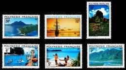 POLYNESIE 1974 - Yv. 97 98 99 100 101 102 *   Cote= 20,00 EUR - Paysages (6 Val.)  ..Réf.POL24336 - Neufs