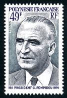 POLYNESIE 1976 - Yv. 106 **   Cote= 15,00 EUR - Président G. Pompidou  ..Réf.POL24340 - Neufs