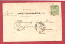 Y&T N°102 SEDAN   Vers CONDE EN BRIE1909 - 1877-1920: Période Semi Moderne