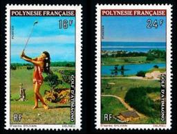 POLYNESIE 1974 - Yv. 94 Et 95 **   Cote= 22,20 EUR - Sport : Golf D'Atimaono (2 Val.)  ..Réf.POL24334 - Neufs