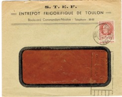 ENVELOPPE  A EN-TETE STEF ENTREPOT FRIGORIFIQUE TOULON - Marcophilie (Lettres)