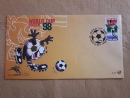 Coupe Du Monde De Football 1998 FDC Afrique Du Sud - Copa Mundial