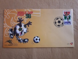 Coupe Du Monde De Football 1998 FDC Afrique Du Sud - Fußball-Weltmeisterschaft