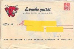 LOT DE 10 BUVARDS LA VACHE QUI RIT -  SERIE N° 3 LES DECOUVERTE- DESSINATEUR LUC M BAYLE - ENVELOPPE TIMBRE N° 110 PREO - Dairy