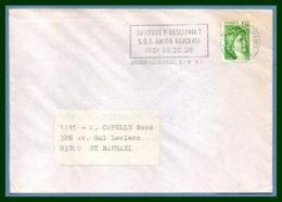 Flamme SOS Amitié Vaucluse Avignon Les Olivades 1981 / Sabine - Marcophilie (Lettres)