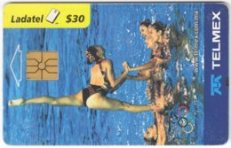 MEXICO B-083 Chip Telmex - Event, Sport, Olympic Games, Synchronized Swimming - Used - Mexico