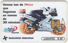 MEXICO B-090 Chip Telmex - Advertising, Food, Pizza, Traffic, Motorbike - Used - Mexico
