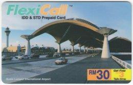 MALAYSIA A-594 Prepaid FlexiCall - Traffic, Car - Used - Malaysia