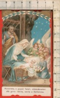 "Antico Santino Lega Eucaristica ""Natività - N.9151"" Imprimatur Mediolani 1910 - Religion & Esotericism"