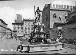 EMILIA ROMAGNA - BOLOGNA - PIAZZA NETTUNO  - VIAGGIATA 1962 FRANCOBOLLO ASPORTATO - Bologna