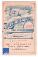 Spécialité De Marseille Bouillabaisse Gueyrard Le Rosbif Grand Hôtel Des Princes Restaurant Provence Port Voilier A2-100 - Advertising