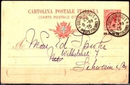 "Italia-A - Costantinopoli 1: Intero Postale ""Leoni"" Del 26.08.09,soprastampato 20 Para 20 - Bureaux D'Europe & D'Asie"