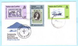 TRISTAN DA CUNHA - FDC - 206 A - 208 A - Tag Der Briefmarke Schiff (31105) - Tristan Da Cunha