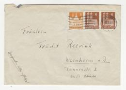 Germany Letter Cover Posted 1951 Heidleberg B191020 - BRD