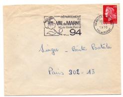 VAL De MARNE - Dépt N° 94 NOGENT Sur MARNE 1970 = FLAMME Codée = SECAP  ' N° De CODE POSTAL / PENSEZ-Y ' - Postleitzahl